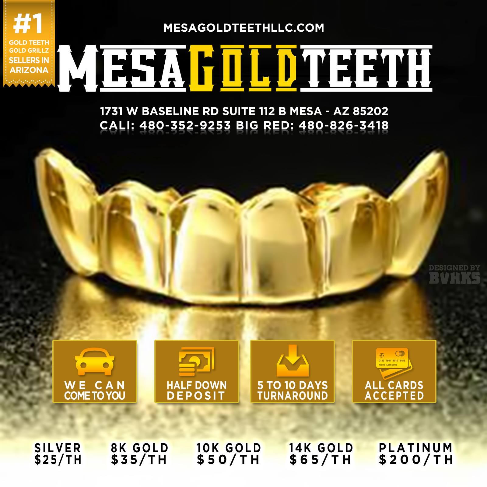 Mesa Gold Teeth LLC 1731 W Baseline Rd Suite 112B, Mesa, AZ 85202