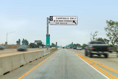 Driving the carpool lane.