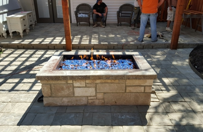 Texas Premier Landscape - Amarillo, TX. This outdoor fire feature is amazing!