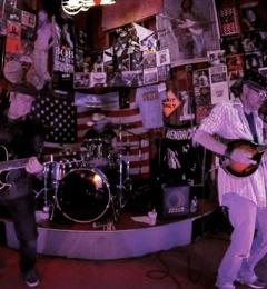 Howling Dog Saloon - Fairbanks, AK. DG3 visiting band from Austin, TX