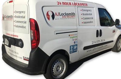 AJ Locksmith & Security - Dallas, TX. AJ Locksmith Dallas Van