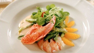 Grilled seafood at Savore Ristorante