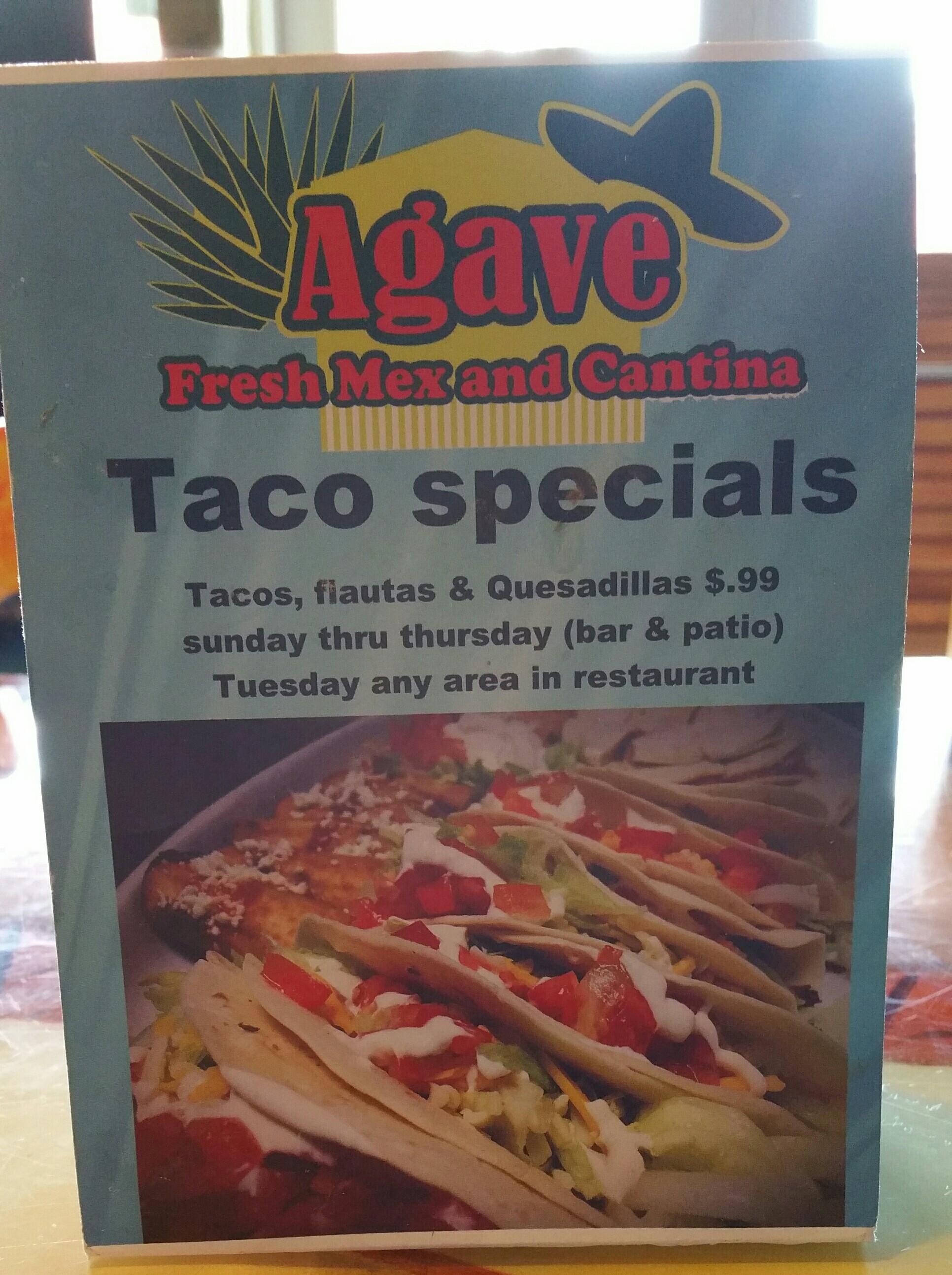 Agave Fresh Mex Restaurant 1474 W Granada Blvd Ste 435 Ormond