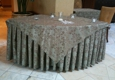 ASAP Linen Inc - Paterson, NJ. ASAP Linen, Coconut Majestic matching table skirt and cloth