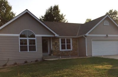 McCracken Roofing & Exterior - Harrisonville, MO. Roof done by McCracken Roofing !