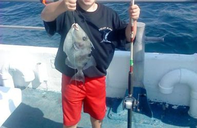 Kelley Fishing Fleet - Bal Harbour, FL. Caught on the Atlantis with Capt. Jamie. His first fish