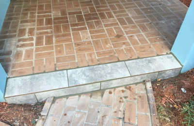 Hercules Home Help - Tamarac, FL. Repair walkway with new tile edge.