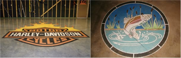 Logos on Cement Surfaces by Cardinal Coatings
