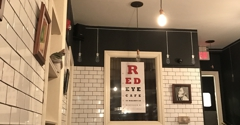Red Eye Cafe - Montclair, NJ. Dining room, walls often covered in cool, local artwork