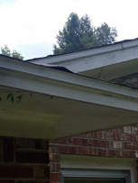 Leaky roof at back of home