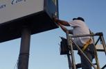Sign repair, electrical
