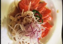 Zono Sushi - Glendale, CA. Salmon carpaccio