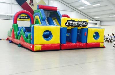 Bouncin Craze Delivery - Edmond, OK. 3 Piece Adrenaline Rush Obstacle Course 25X35X18