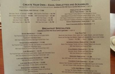 Paty's Restaurant - Toluca Lake, CA. The delicious breakfast menu!