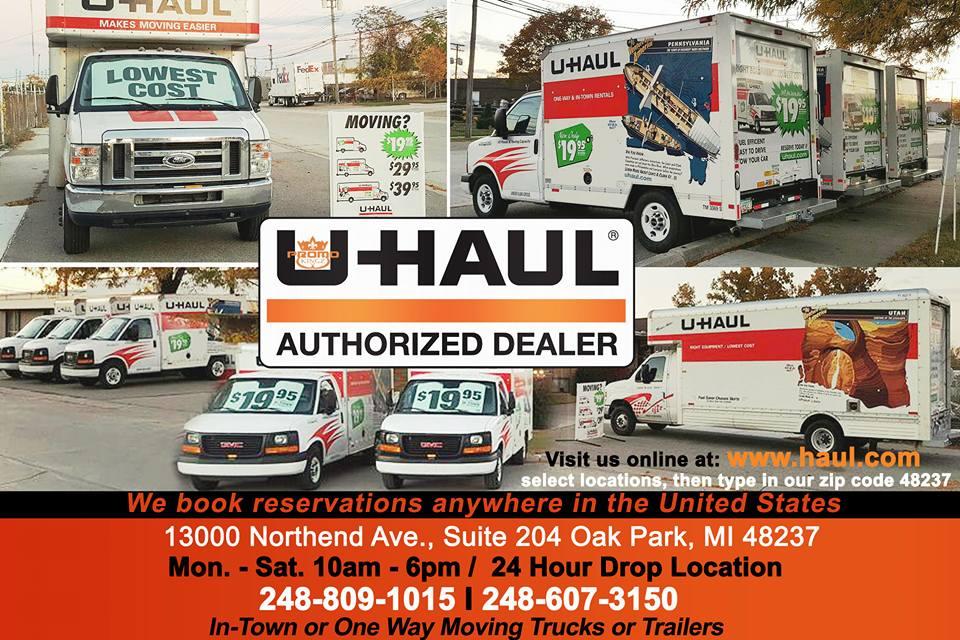 UHaul Authorized Dealer 13000 Northend Ave Suite 204, Oak