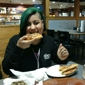 Pizza Hut - San Antonio, TX. The wife enjoying our pizza pie!