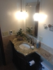 Complete Bathroom remodeling- floor to ceiling- Granit top provideing extra work space in small bath