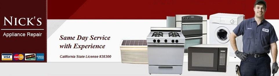 Appliance Repair Nick S Appliance Repair San Jose Ca