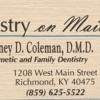 Dentistry On Main