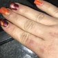 Regal Nails - Danville, VA. See in the red it's also like that in the orange!  Very Unprofessional