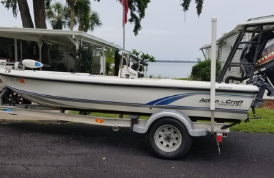 Rothrock Boatworks & Marine - Sanford, FL. Yahama 90 SHO on 16' Action Craft