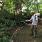 EcoTek Termite and Pest Control - Durham, NC. EcoTek Pest Control spraying my backyard to keep mosquitos away