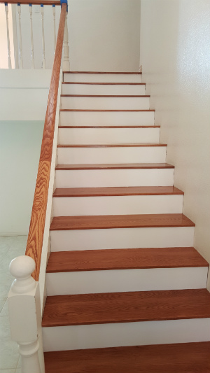 white stairs after