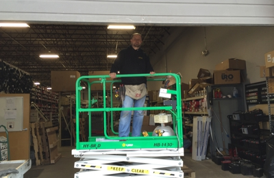 Accurate Electrical Contractors - Naugatuck, CT. Upgrading the lighting system at a auto parts warehouse.