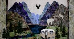Backdoor General Store & Gwen Carreon Designs. Mountainside Quilt from Gwen Carreon Designs!