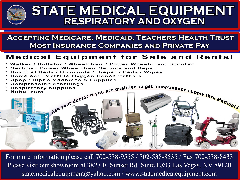 State Medical Equipment Llc 3950 E Sunset Rd Ste 112 Las