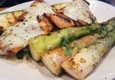 California Fish Grill - Palmdale, CA. Garlic butter salmon with asparagus and zucchini