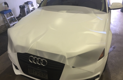 Sunsation Window Tinting - Littleton, CO. Full hood protection with XPel clear bra
