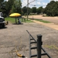 Smith's Mobile Welding, LLC - Memphis, TN. Before picture of Iron Entrance Gate Repair for a church located in Memphis, TN