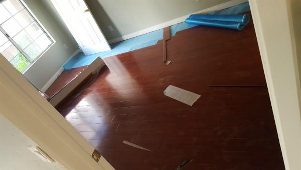 Wooden floor before