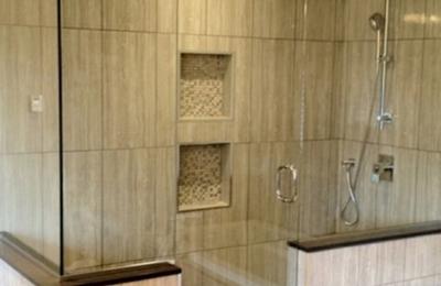 Lake Worth Mirror and Glass Inc. - Lake Worth, FL. Beautiful frameless shower door