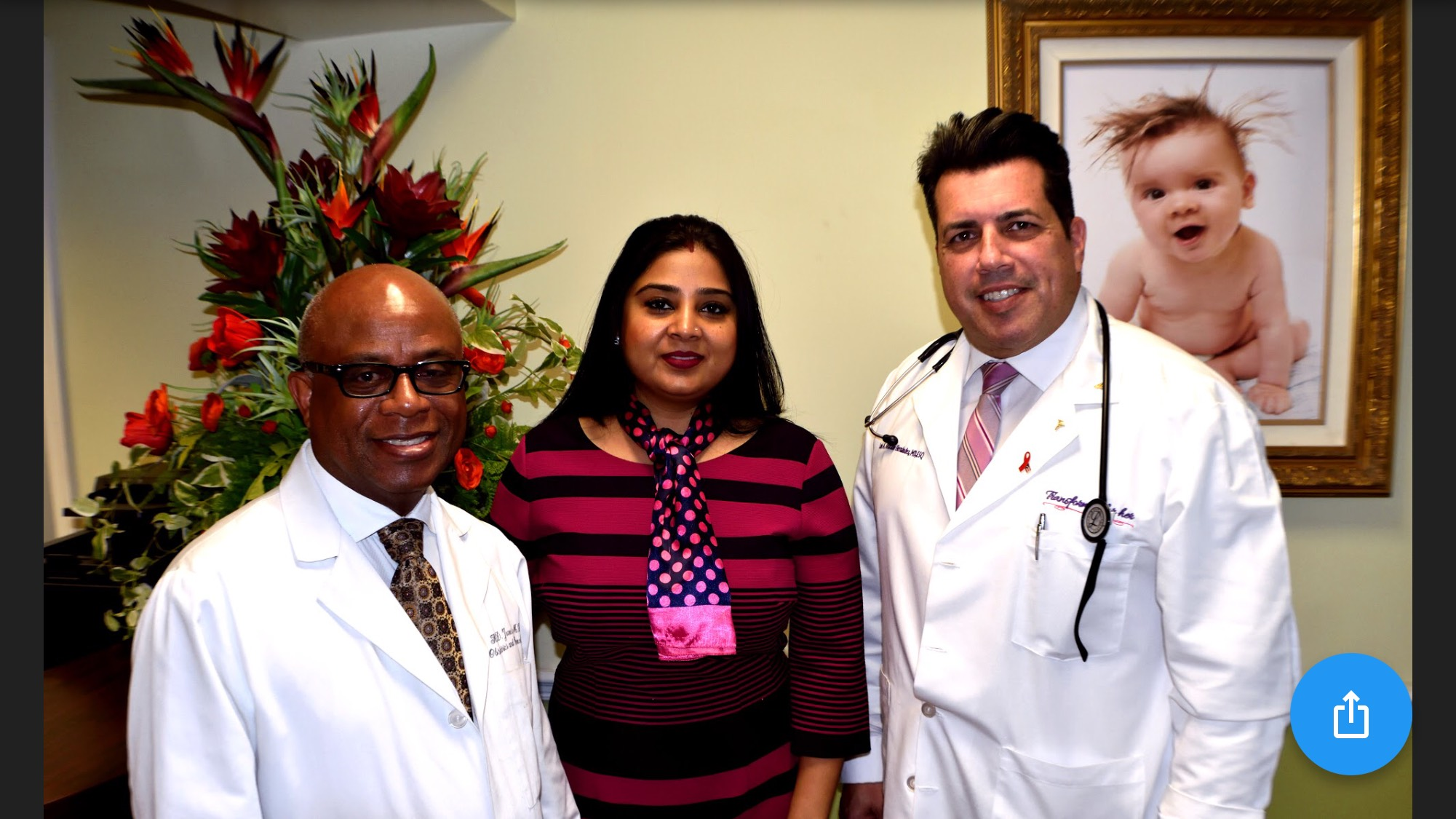 Doctors with staff