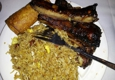 Hong Kong Palace - Hackettstown, NJ. BBQ ribs with pork fried rice, egg roll combo