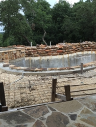 This is how the pool was left.  No pool equipment, no plaster, no patio... And some of what was completed had to be redone.