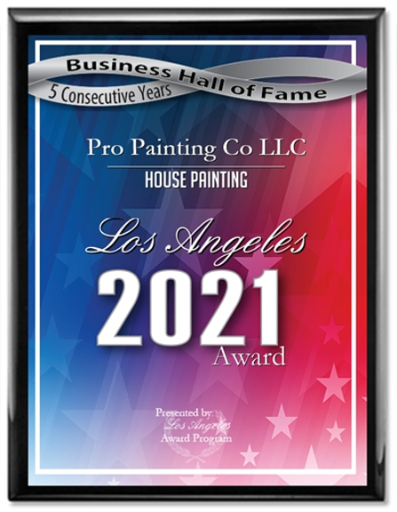 Pro Painting Co - Los Angeles, CA. Award To The Best Painting Company