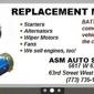 A S M Auto Supply Co - Chicago, IL