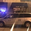 Gray taxi cab