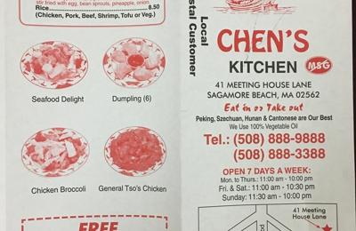 Chen's Kitchen - Sagamore Beach, MA