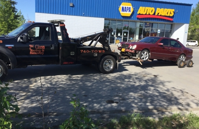 1st Class Towing & Recovery - Anchorage, AK. Add a Caption (optional)All-wheel-drive Mercedes
