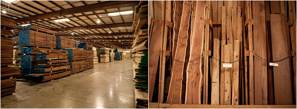 Walnut and Racks - Peach State Lumber