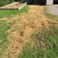 Beck Tree Service - Hermitage, PA. Hay placed over the ruts