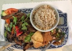 President Thai Restaurant - Pasadena, CA. Moo yan.. tastes really good and I think everyone should try this .