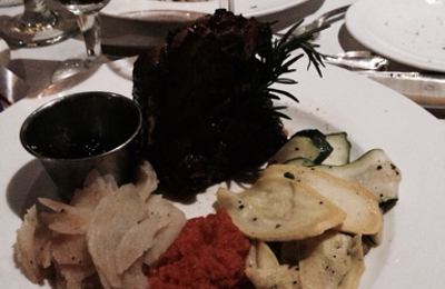 Depot Restaurant - Visalia, CA. Lamb chops mint sauce, scallops