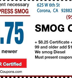Corona Express Smog - Corona, CA