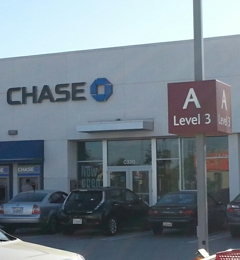 Chase Bank - Los Angeles, CA. Entrance through top level of parking lot