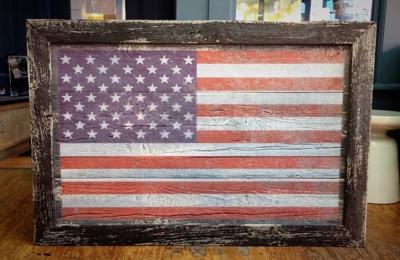 Rustic Elegance. American Flag Wall Hanging